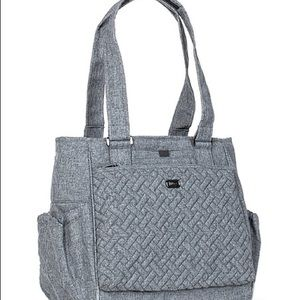 Lug Heather Gray Cabby Quilted Tote